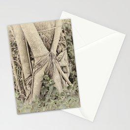 Strangler fig in forest Stationery Cards