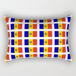flag of moldova-moldavia,moldovan,moldoveneasca,romana,romanian,chisinau Rectangular Pillow