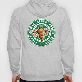 Vegan Power Workout Muscle Carrot Gym Work Hoody