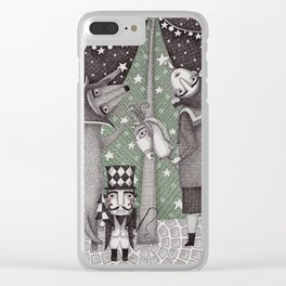 Of Snow and Stars and Christmas Wishes Clear iPhone Case