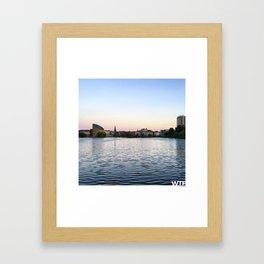 The Lakes Evening Framed Art Print