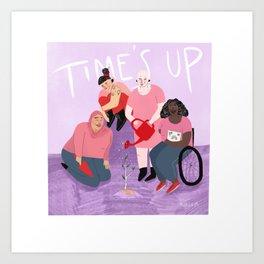 TIME'S UP by Alda Lilja Art Print