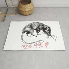 love rat Rug