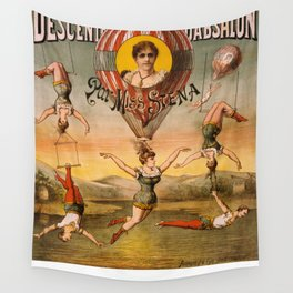 Vintage poster - Descente D'absalon Wall Tapestry