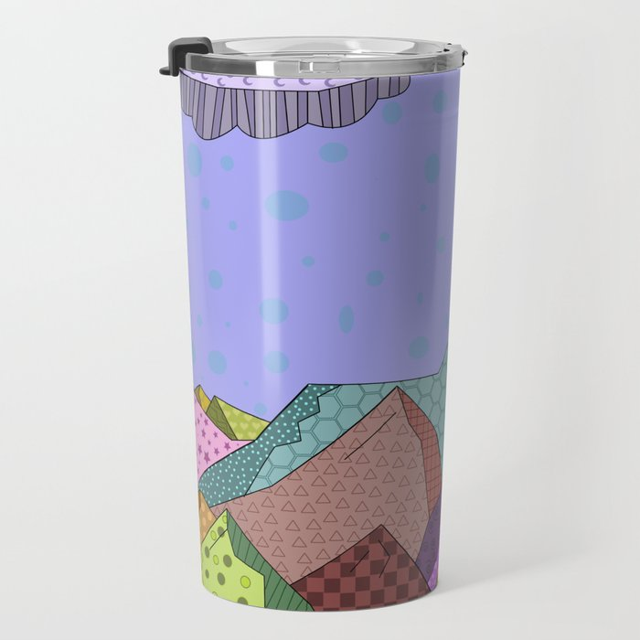 Pattern Landscape Travel Mug