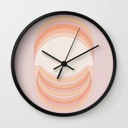 Lilac Folds Wall Clock