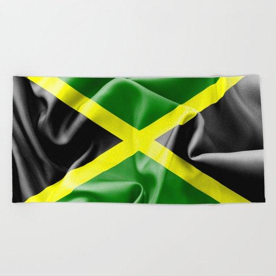 Jamaica Flag Beach Towel