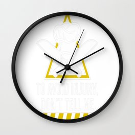 Avoid Injury, Im A Chef Wall Clock