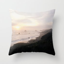 Sunset on the Sonoma Coast Throw Pillow