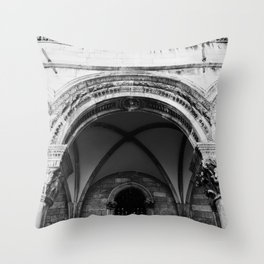 Croatian Columns Throw Pillow
