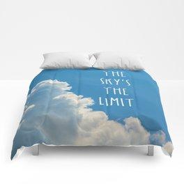 Sky's the limit - cloudscape Comforters
