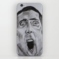 nicolas cage iPhone & iPod Skins featuring NICOLAS CAGE in CHARCOAL face/off face off film movie cult by Radiopeach