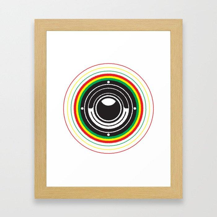 Trinity Bass Vibration Framed Art Print