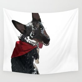 Adorable Dog Wrigley Wall Tapestry