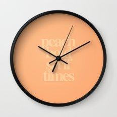 MetaType Peach Wall Clock