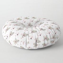 Elephant on skates Floor Pillow
