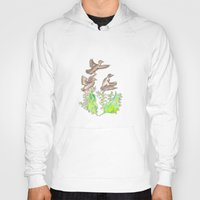 ducks Hoodies featuring  Wild ducks by Thesecretcolors