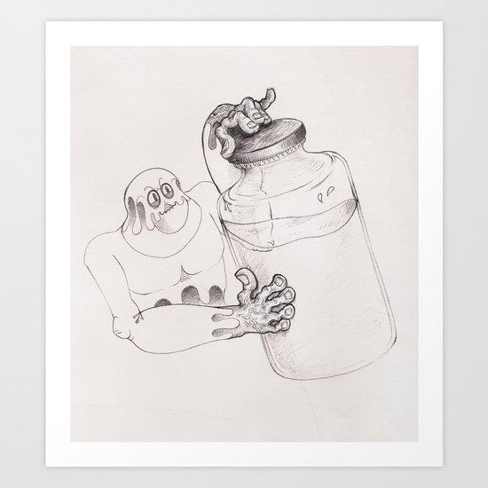 Bottler Art Print