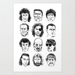 80s Action Stars Art Print