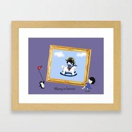 Bluey is heroic Framed Art Print