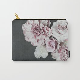 Pale Flowers Carry-All Pouch