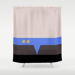 Julian Bashir - Minimalist Star Trek DS9 Deep Space Nine - Doctor Bashir  - startrek - Trektangles Shower Curtain