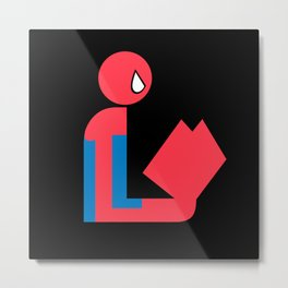Gentleman Spider Reads Metal Print