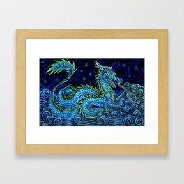 Chinese Azure Dragon Framed Art Print