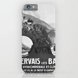 PLM St Gervais les Bains advertisement iPhone Case