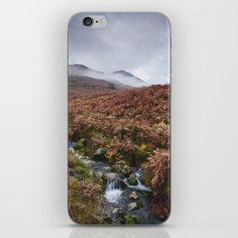 Cinderdale Beck and Whiteless Pike in cloud. Cumbria, UK. iPhone Skin
