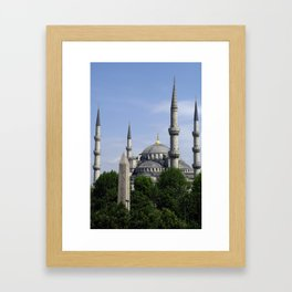 Blue Mosque - Sultan Ahmed Mosque in Istanbul, Turkey Framed Art Print