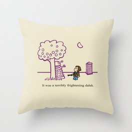 Dr Harold and the Purple Screwdriver Throw Pillow