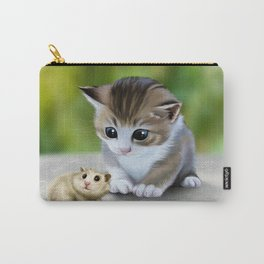 cute kitty and hamster Carry-All Pouch