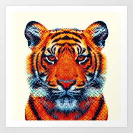 Tiger - Colorful Animals Art Print