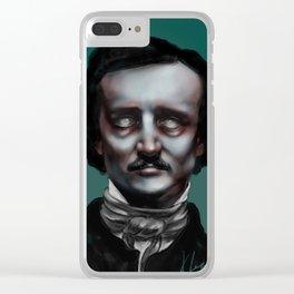Edgar Allen Poe Clear iPhone Case