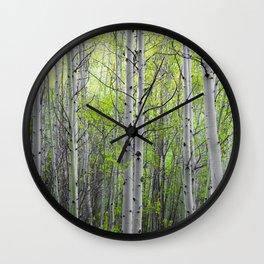 Aspen Grove Wall Clock