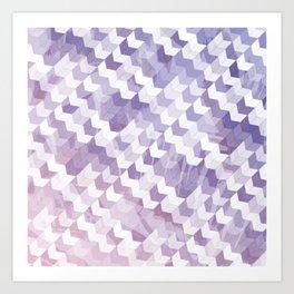 Abstract Geometric Cubes Design Art Print