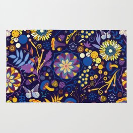 Ripe autumn – purple and yellow Rug
