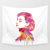 audrey Wall Tapestries featuring Audrey by Fimbis
