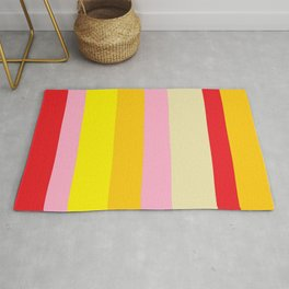 Bold Color - RED, YELLOW, AND PINK Rug