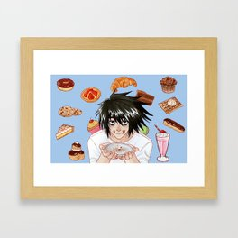 L from Death Note Framed Art Print