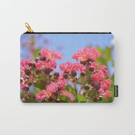 Blooming Pink Crepe Myrtle Flowers Carry-All Pouch