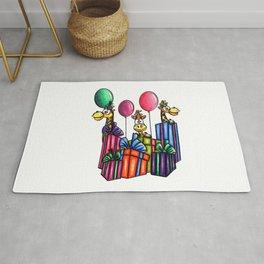 IMAGE #163 - BIRTHDAY GIRAFFES Digital Stamp by Sasayaki Glitter digital stamps- Naz- Rug