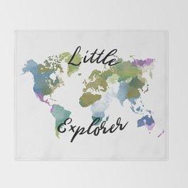 Little Explorer Throw Blanket