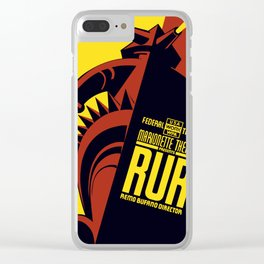 Vintage poster - RUR Clear iPhone Case