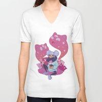 pastel goth V-neck T-shirts featuring Pastel Tea by LaRi