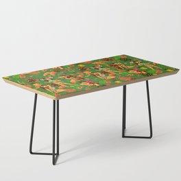 Tiki Temptress on Green Coffee Table