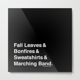 Fall Leaves & Marching Band Metal Print