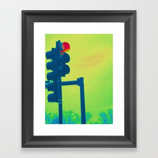 Stop Light Framed Art Print