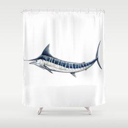 Blue Marlin (Makaira nigricans) Shower Curtain